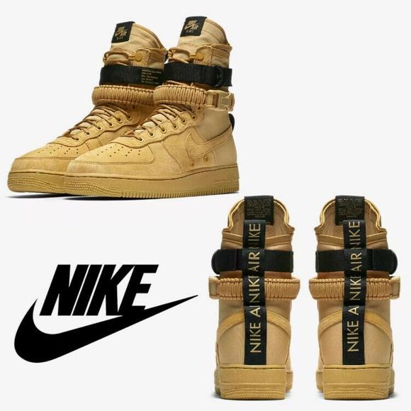 Nike Shoes   Nike Sf Af High Club Gold